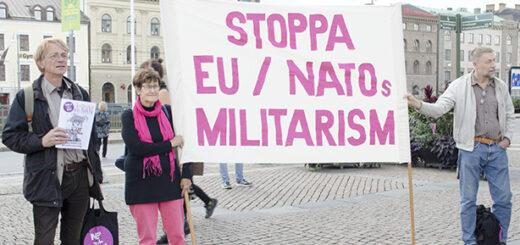 Demonstration mot Aurora. Foto: Kerstin Nordqvist
